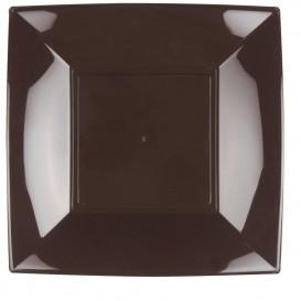 Assiette Plastique Réutilisable Plate Marron PP 290mm (12 Utés)