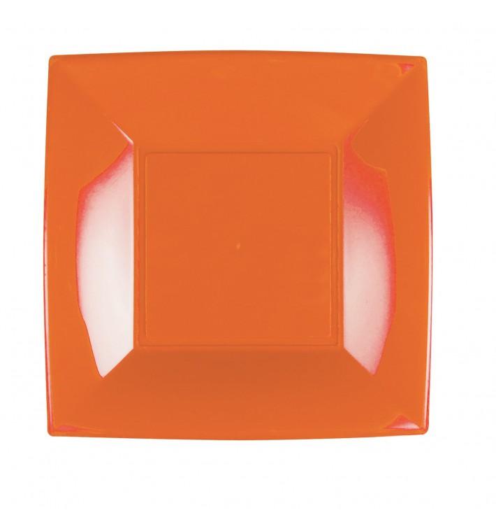 Assiette Plastique Réutilisable Plate Orange PP 230mm (300 Utés)