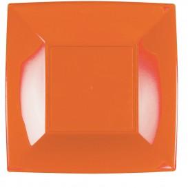 Assiette Plastique Réutilisable Plate Orange PP 290mm (12 Utés)