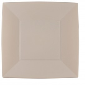 Assiette Plastique Réutilisable Plate Beige PP 290mm (144 Utés)