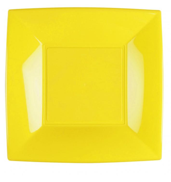 Assiette Plastique Réutilisable Plate Jaune PP 290mm (144 Utés)