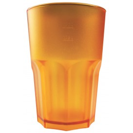 Verre Réutilisable SAN Frost Orange Transp. 400ml (5 Utés)