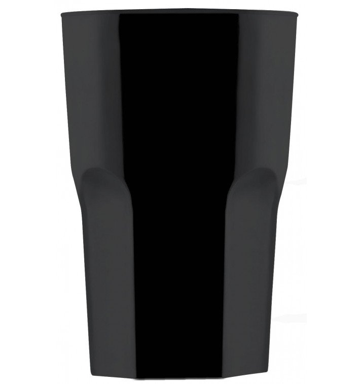 Verre Réutilisable SAN Granity Noir 400ml (5 Utés)