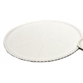 Plateau à Pizza en Carton Blanc Ø33cm (100 Unités)