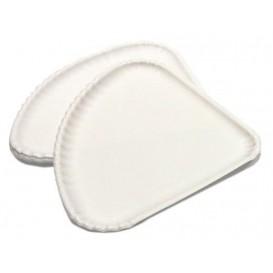 Assiette Triangulaire à Pizza Carton Blanc 1/4 (500 Utés)