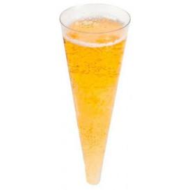 Cône Plastique à Champagne Transparent 100ml (24 Utés)