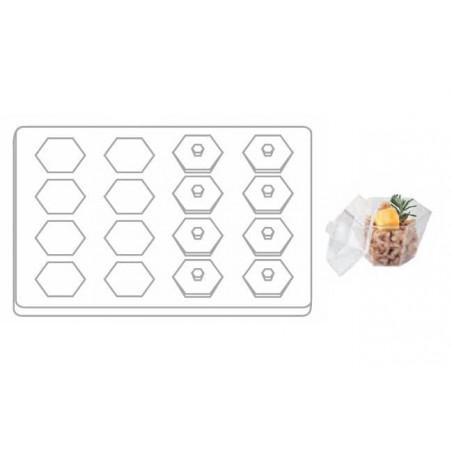 Kit Plateau et Couvercle + Support et 16 Bols Hexagonaux (1 Kit)