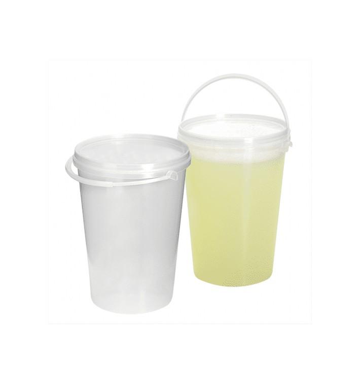 Seau Plastique avec Couvercle et Anse 1000 ml (200 Utés)