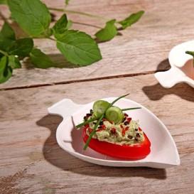 Mini Feuille Canne à Sucre Blanc 8x5,5 cm (500 Utés)