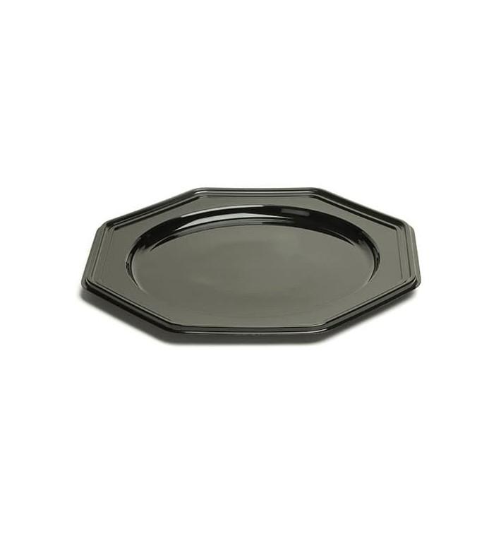 Dessous d'assiette Plastique Octogonal Noir 30 cm (10 Utés)