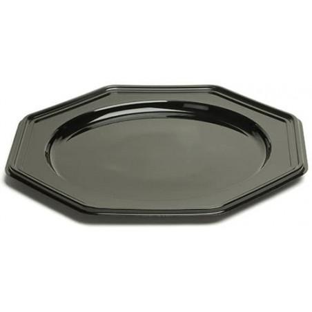 Dessous d'assiette Plastique Octogonal Noir 30 cm (50 Utés)