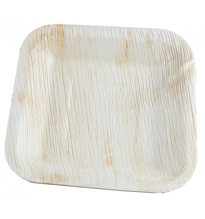 Assiette carrée en Feuilles de Palmier 20x20cm (100 Unités)
