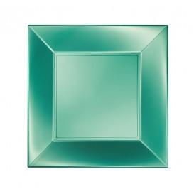 Assiette Plastique Plate Vert Nice Pearl PP 230mm (25 Utés)