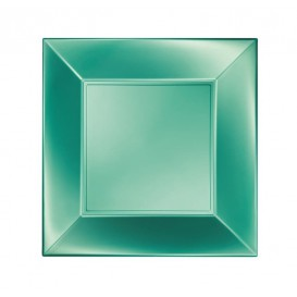 Assiette Plastique Plate Vert Nice Pearl PP 180mm (300 Utés)
