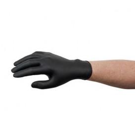 Gants Nitrile sans Poudre Noir Taille S AQL 1.5 (100 Utés)