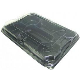 Plateau Plastique 7C avec Couvercle 35x24 cm (25 Packs)