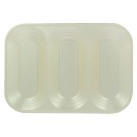 """Plateau Plastique PP """"X-Table"""" 3C Perle 330x230mm (2 Utés)"""