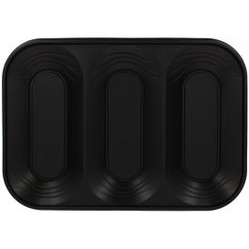 """Plateau Plastique PP """"X-Table"""" 3C Noir 330x230mm (2 Utés)"""