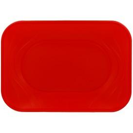 """Plateau Plastique PP """"X-Table"""" Rouge 330x230mm (60 Utés)"""