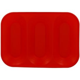 "Plateau Plastique PP ""X-Table"" 3C Rouge 330x230mm (2 Utés)"