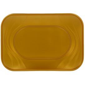 """Plateau Plastique PP """"X-Table"""" Or 330x230mm (60 Unités)"""