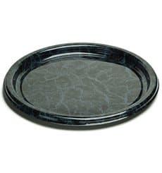 Assiette en Plastique Rond Marbré 23 cm (250 Utés)