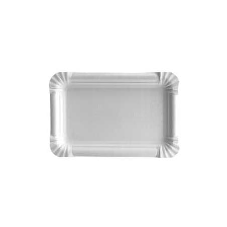 Plat rectangulaire en Carton 12x19cm (100 Unités)