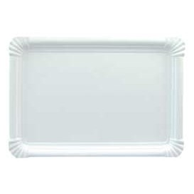 Plat rectangulaire en Carton Blanc 31x38 cm (150 Utés)