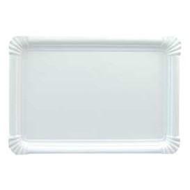 Plat rectangulaire en Carton Blanc 34x42 cm (100 Utés)