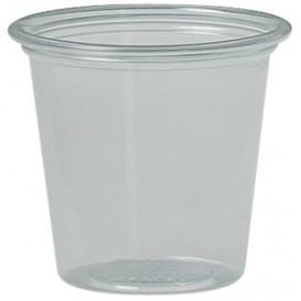 Pot à Sauce Plastique rPET Cristal 37ml Ø4,8cm (5000 Utés)