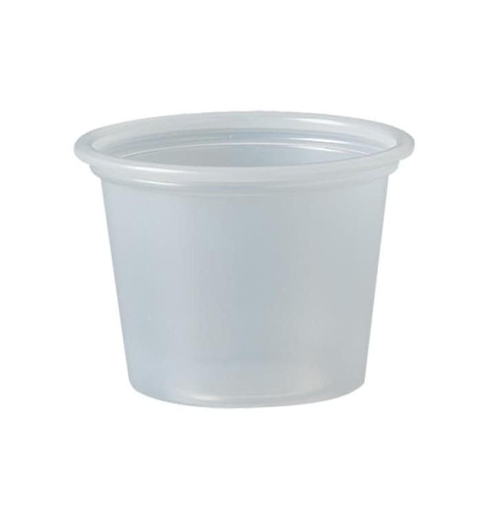 Pot à Sauce Plastique PS Trans. 30ml Ø4,8cm (5000 Utés)