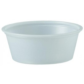 Pot à Sauce Plastique PS Trans. 44ml Ø6,6cm (2500 Utés)
