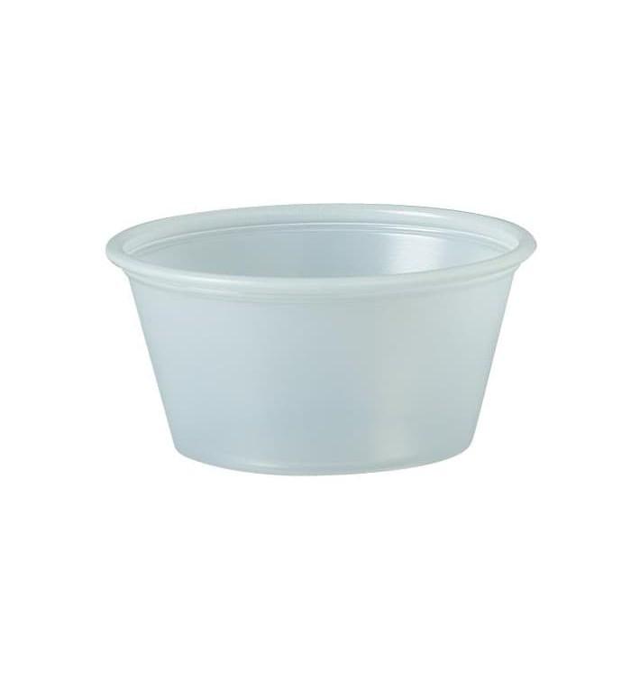 Pot à Sauce Plastique PS Trans. 60ml Ø6,6cm (250 Utés)
