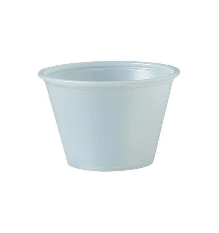 Pot à Sauce Plastique PS Trans. 75ml Ø6,6cm (250 Utés)