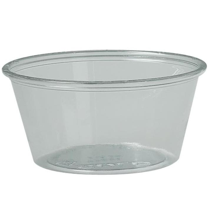 Pot à Sauce Plastique rPET Cristal 100ml Ø7,3cm (250 Utés)