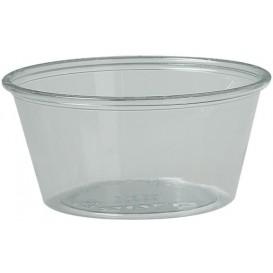 Pot à Sauce Plastique rPET Cristal 100ml Ø7,3cm (2500 Utés)