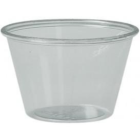 Pot à Sauce Plastique rPET Cristal 120ml Ø7,3cm (250 Utés)