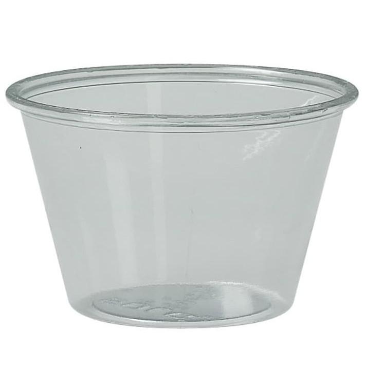 Pot à Sauce Plastique rPET Cristal 120ml Ø7,3cm (2500 Utés)