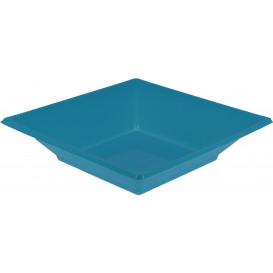 Assiette Plastique Creuse Carrée Turquoise170mm (300 Unités)