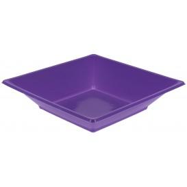 Assiette Plastique Creuse Carrée Lilas 170mm (25 Unités)