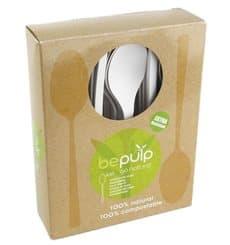 Petite Cuillère Biodégradable CPLA Blanc 120mm en boîte (50 Utés)