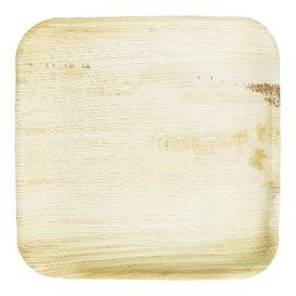 Assiette carrée en Feuilles de Palmier 24x24cm (25 Unités)