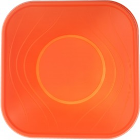 "Bol Plastique PP ""X-Table"" Orange 180x180mm (8 Utés)"