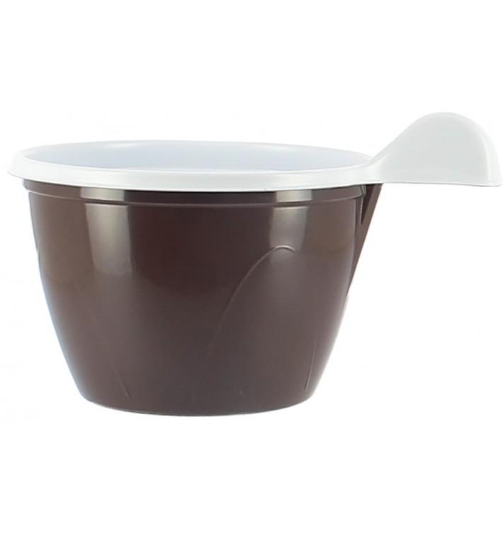 Tasse Plastique PS Chocolat 100 ml (20 Unités)