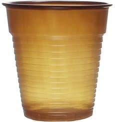 Gobelet Plastique Vending Marron 166ml (100 Unités)