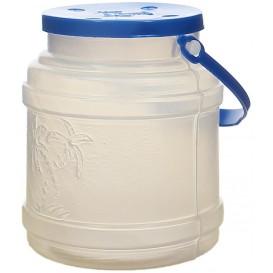 Bouteille Transp. Couvercle et Anse 500 ml (10 Utés)