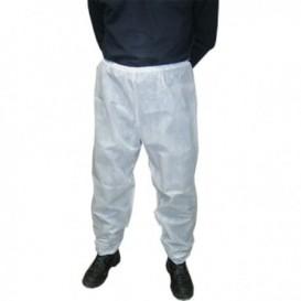 Pantalon PP Non Tissé Industriel Blanc (1 Uté)