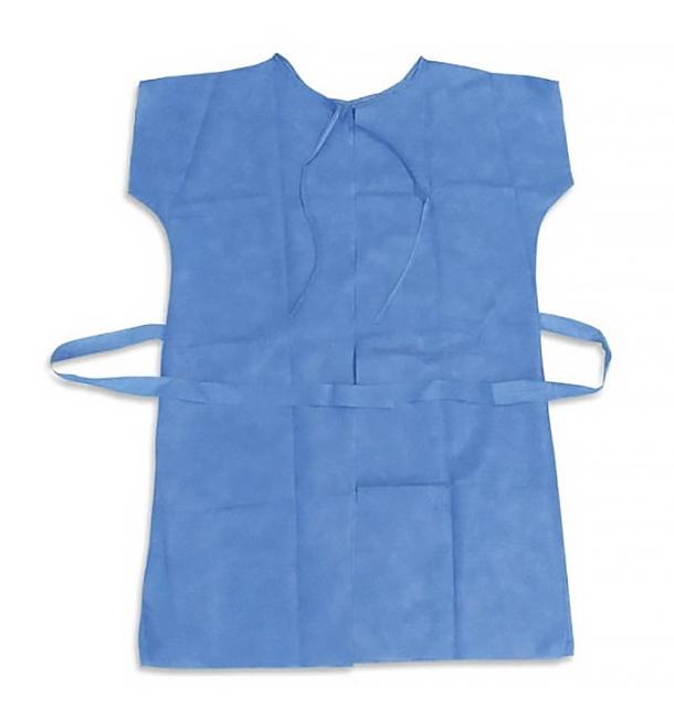 Blouse PP pour Patients RX Bleu XL (10 Utés)