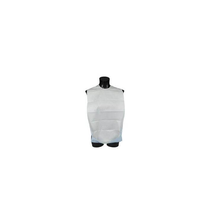 Bavoir Adulte avec poche Blanc Economique 36x65cm (125 Unités)