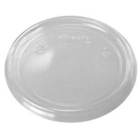 Couvercle Plat Plastique Transparent Ø7,4cm (100 Utés)
